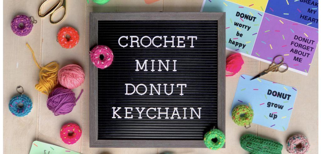 Doughnut keyrings! #amigurumi #crochet #doughnut #crochetdoughnuts ... | 492x1024